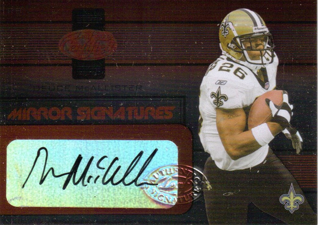 2002 Leaf Certified Mirror Red Signatures #10 Deuce McAllister
