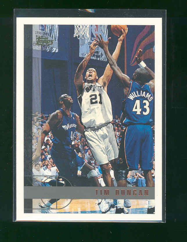 1997 Topps #115 Tim Duncan Spurs Rookie Mint Condtion Nice Card