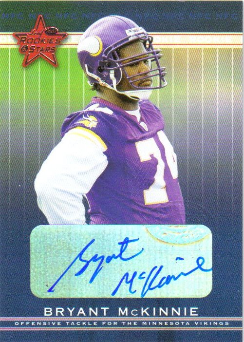 2002 Leaf Rookies and Stars Rookie Autographs #136 Bryant McKinnie