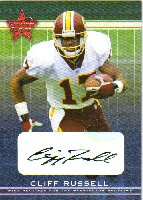 2002 Leaf Rookies and Stars Rookie Autographs #150 Cliff Russell