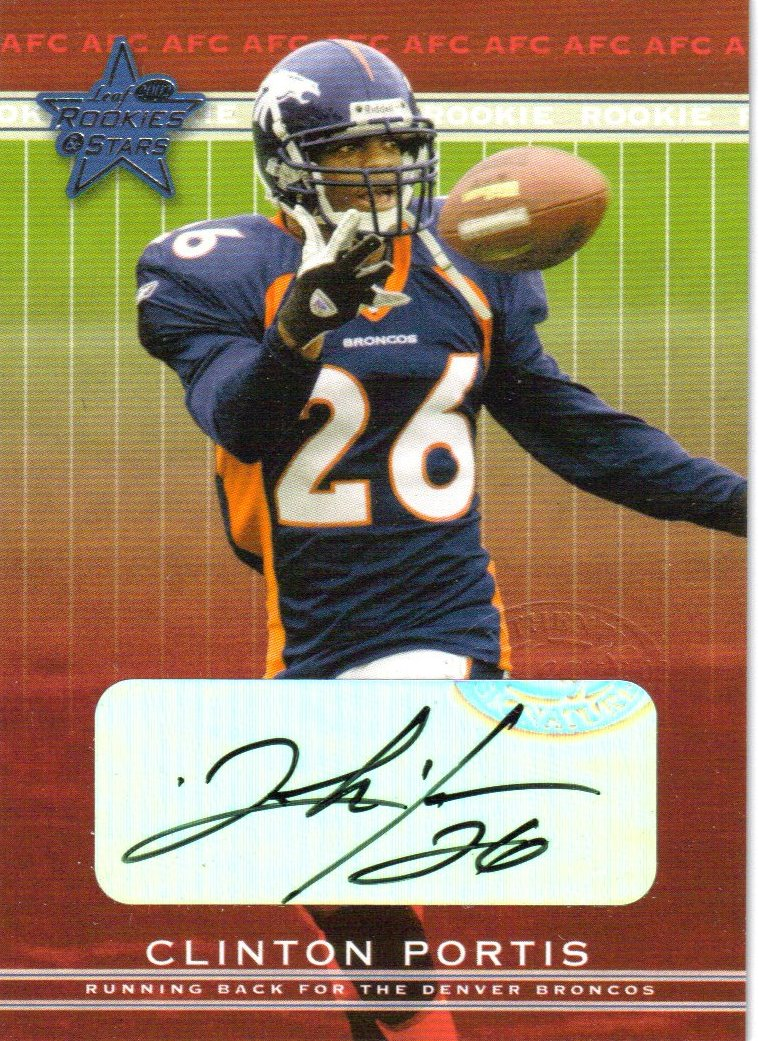 2002 Leaf Rookies and Stars Rookie Autographs #154 Clinton Portis front image