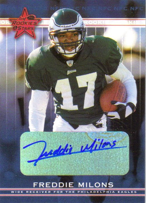2002 Leaf Rookies and Stars Rookie Autographs #176 Freddie Milons
