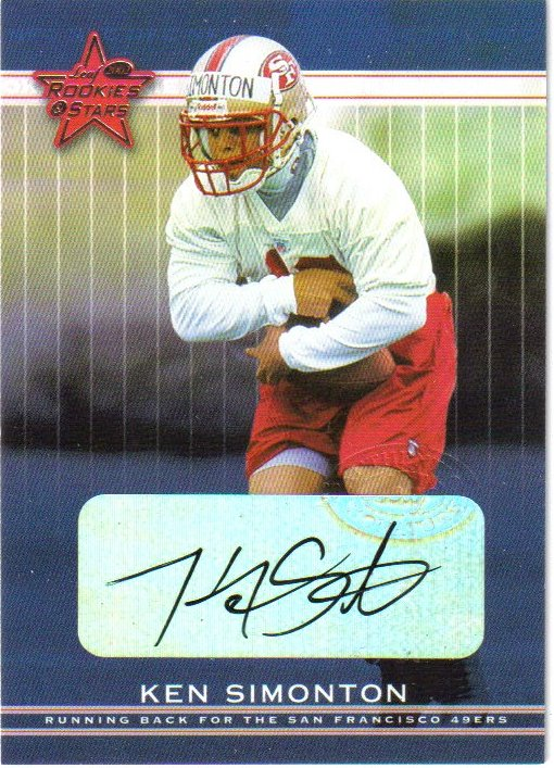 2002 Leaf Rookies and Stars Rookie Autographs #210 Ken Simonton