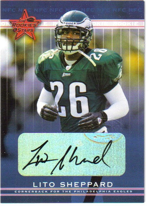 2002 Leaf Rookies and Stars Rookie Autographs #227 Lito Sheppard