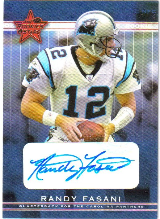 2002 Leaf Rookies and Stars Rookie Autographs #263 Randy Fasani