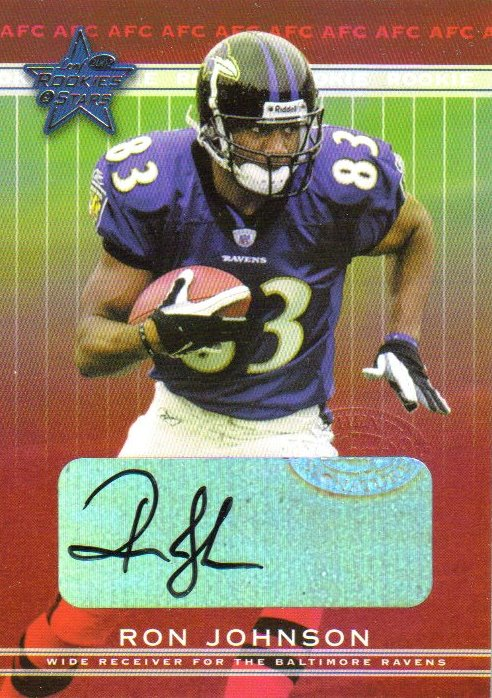2002 Leaf Rookies and Stars Rookie Autographs #275 Ron Johnson