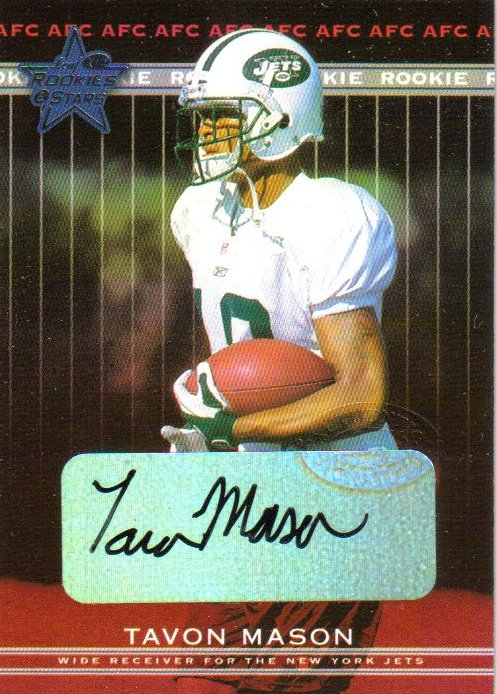 2002 Leaf Rookies and Stars Rookie Autographs #282 Tavon Mason