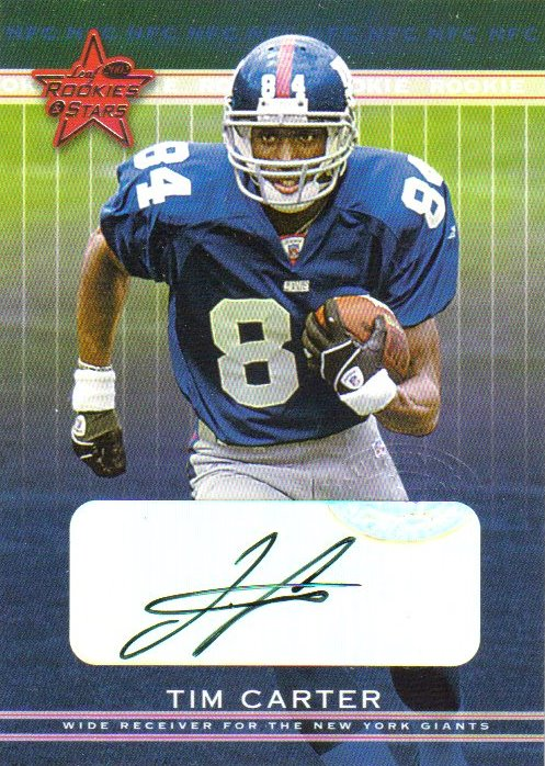 2002 Leaf Rookies and Stars Rookie Autographs #288 Tim Carter