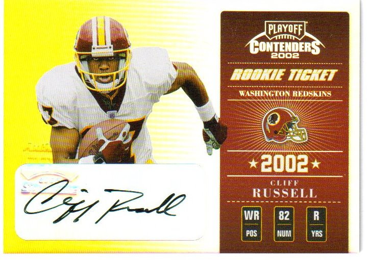 2002 Playoff Contenders #117 Cliff Russell AU/545 RC