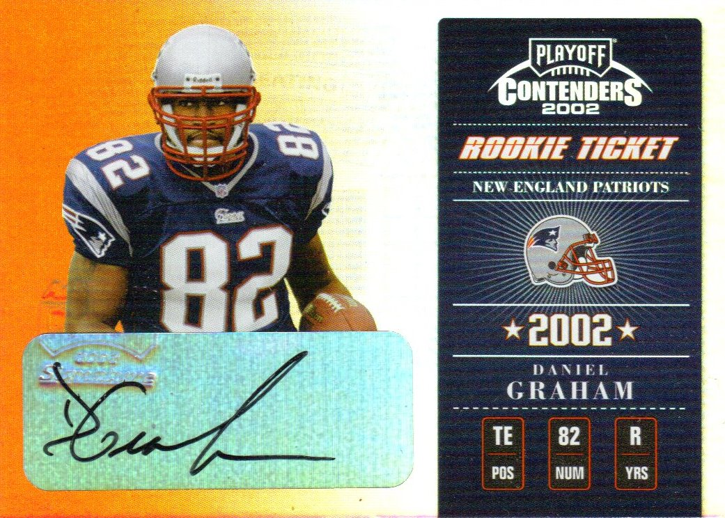 2002 Playoff Contenders #121 Daniel Graham AU/185 RC