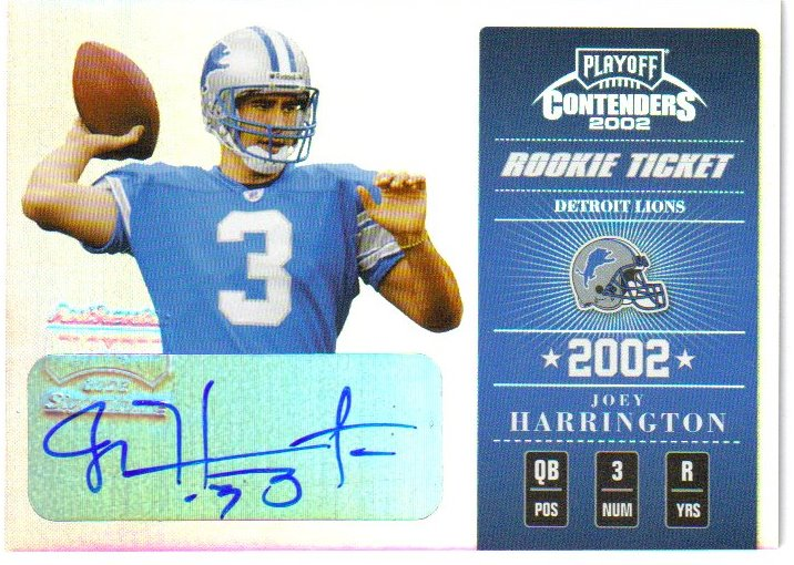 2002 Playoff Contenders #136 Joey Harrington AU/250 RC