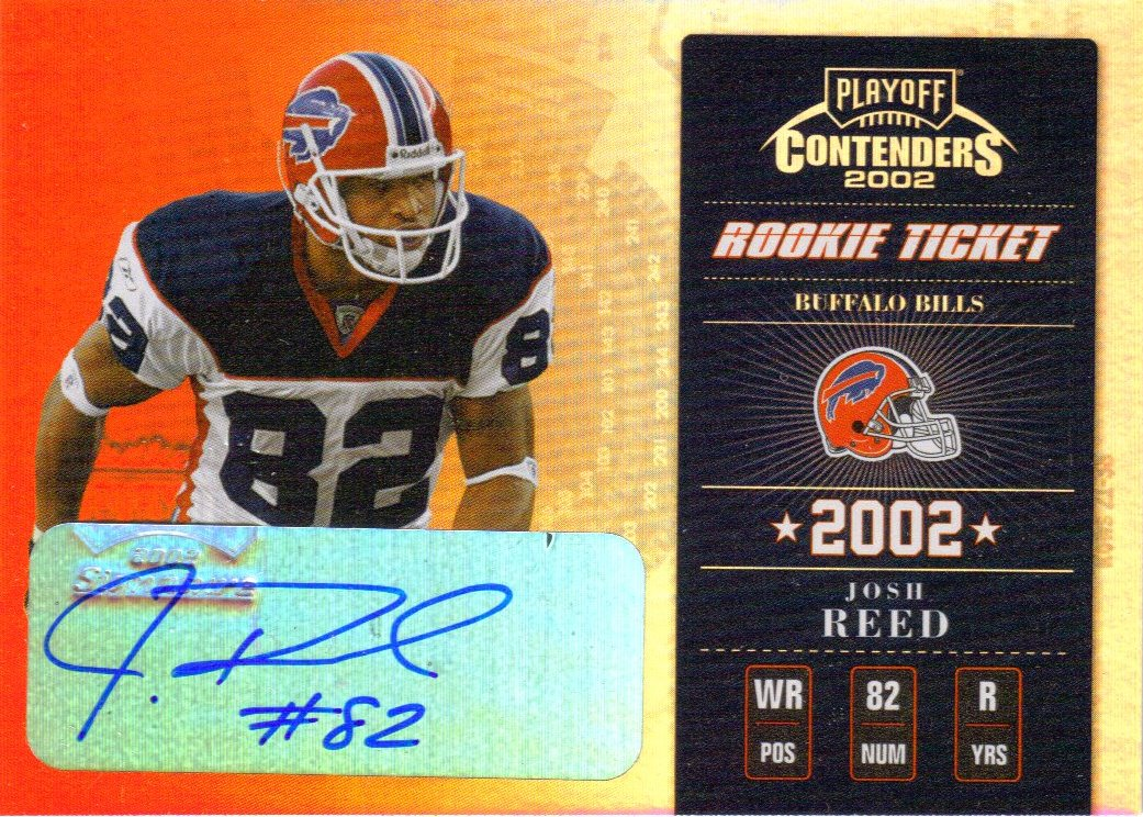 2002 Playoff Contenders #140 Josh Reed AU/290 RC