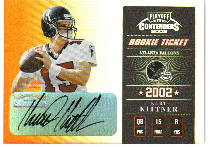 2002 Playoff Contenders #148 Kurt Kittner AU/235 RC