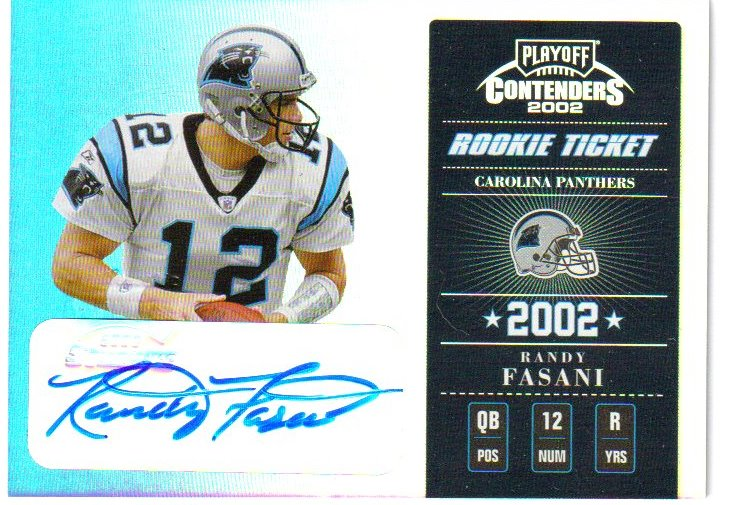 2002 Playoff Contenders #163 Randy Fasani AU/500 RC