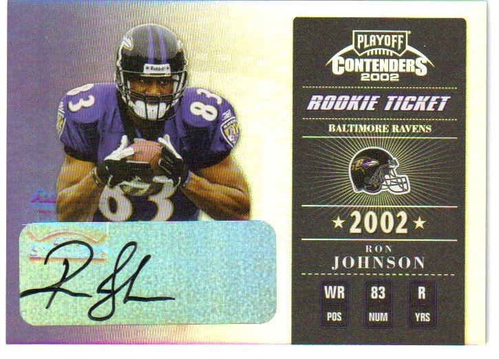 2002 Playoff Contenders #168 Ron Johnson AU/385 RC