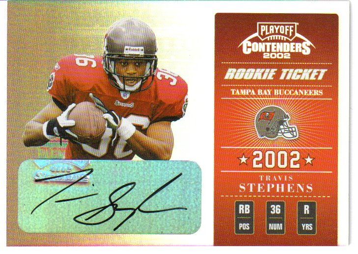 2002 Playoff Contenders #175 Travis Stephens AU/170 RC