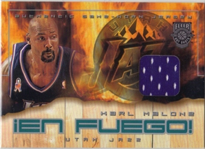 2002-03 Fleer Hot Shots En Fuego Game-Used #KM Karl Malone