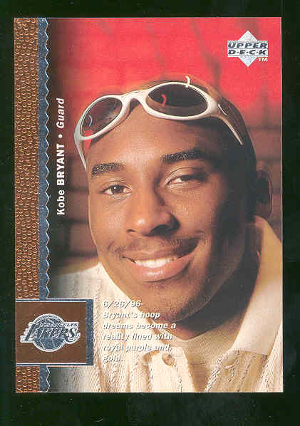 1996 Upper Deck #58 Kobe Bryant Lakers Rookie Mint