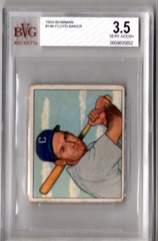 1950 Bowman #146 Floyd Baker BVG 3.5 Very Good+ Chicago WHITE SOX!