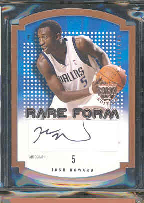 2003-04 SkyBox LE Rare Form Autographs 150 #9 Josh Howard