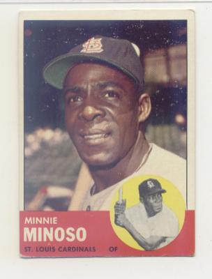 1963 Topps #190 Minnie Minoso front image