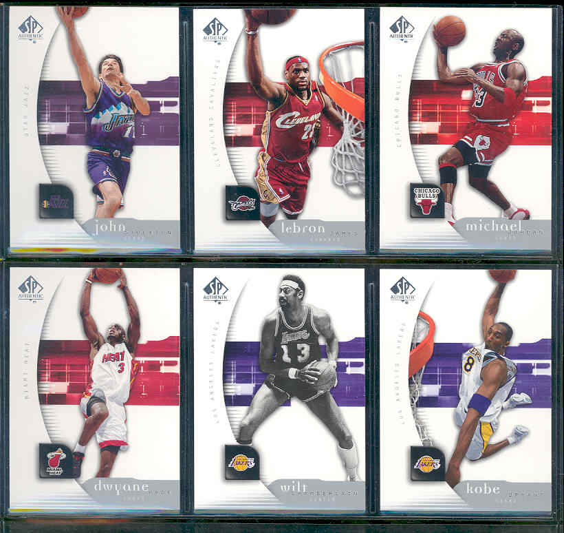 2005-06 SP Authentic NBA Basketball Complete Set w/o SP's 1-90 Beckett Value $40 Includes Steve Nash Michael Jordan Dwyane Wade Lebron James Kobe Bryant Cards shown Book Value over $30