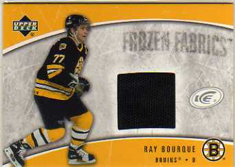 2005-06 Upper Deck Ice Frozen Fabrics #FFRB Ray Bourque