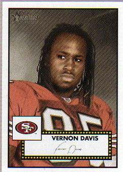 2006 Topps Heritage #313 Vernon Davis SP RC