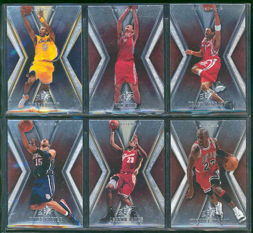 2005 06 Upper Deck SPX Basketball NBA Set  Complete Set  w/o SP's 1-90 Beckett Value $50 w/ Michael Jordan Lebron James Lebron James  Shaquille O'Neal Kobe Bryant Cards shown Book $30