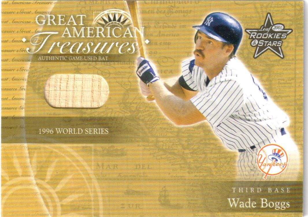 2001 Leaf Rookies and Stars Great American Treasures #GT18 W.Boggs WS Bat/200 *