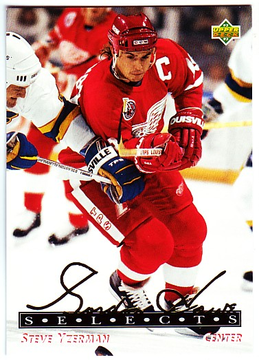 1992-93 Upper Deck Gordie Howe Selects #G10 Steve Yzerman