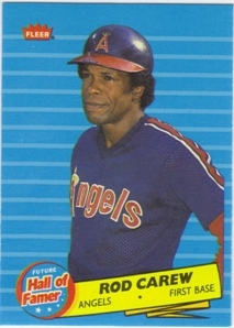 1986 Fleer Future Hall of Famers #4 Rod Carew