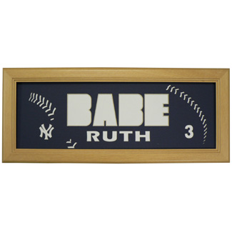 Babe Ruth Yankees - Sports Card / Photo Natural Display Frame