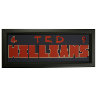Ted Williams Red Sox - Sports Card / Photo Black Display Frame
