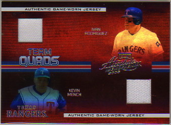2005 Absolute Memorabilia Team Quads Swatch Single Spectrum #72 Texas Rangers/75