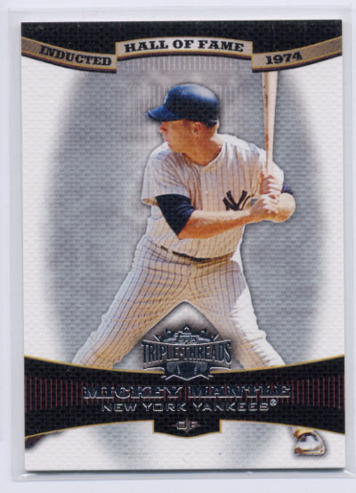 2006 Topps Triple Threads #56 Mickey Mantle HOF