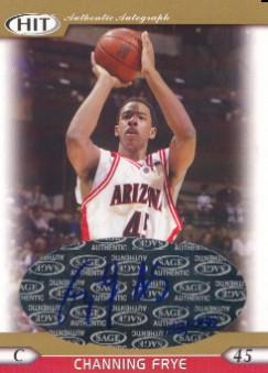 2005 SAGE HIT Autographs Gold #A45 Channing Frye