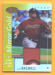 2002 Leaf Certified Mirror Gold #86 Jeff Bagwell Jsy