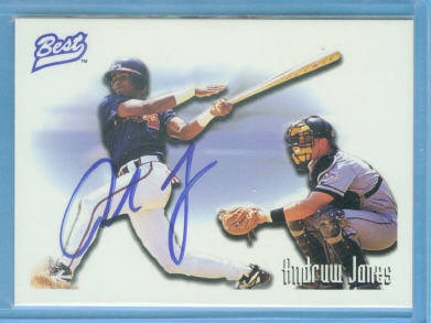 1996 Best Player of the Year Andruw Jones Autographs #1 A.Jones Macon/Batting