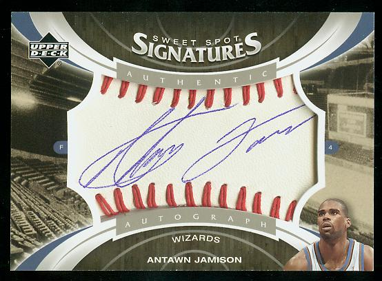 2006-07 Sweet Shot Sweet Spot Signatures #AJ Antawn Jamison