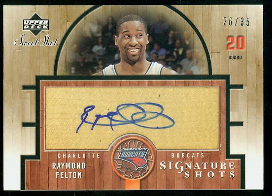 2005-06 Sweet Shot Signature Shots Wood #RF Raymond Felton/35