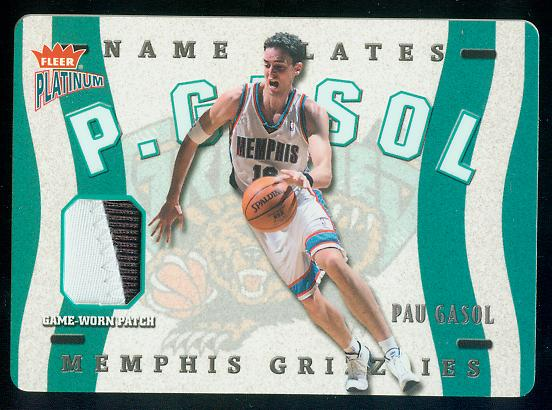 2002-03 Fleer Platinum Nameplates #PG Pau Gasol/350