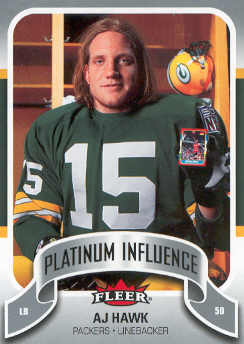 2006-07 Fleer Jordan's Platinum Influence #AH A.J. Hawk
