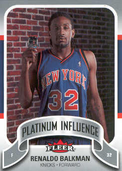 2006-07 Fleer Jordan's Platinum Influence #BA Renaldo Balkman