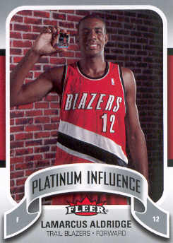 2006-07 Fleer Jordan's Platinum Influence #LA LaMarcus Aldridge