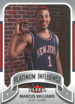 2006-07 Fleer Jordan's Platinum Influence #MW Marcus Williams