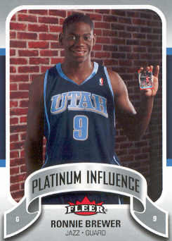 2006-07 Fleer Jordan's Platinum Influence #RB Ronnie Brewer