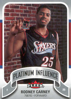 2006-07 Fleer Jordan's Platinum Influence #RC Rodney Carney