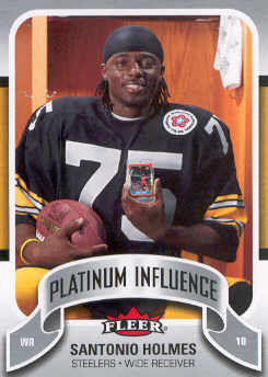 2006-07 Fleer Jordan's Platinum Influence #SH Santonio Holmes
