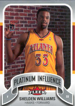 2006-07 Fleer Jordan's Platinum Influence #SW Shelden Williams